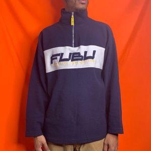 FUBU Sports Collection half zip fleece pullover